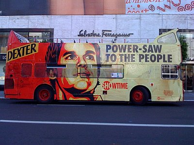 Promoción de Showtime para Dexter (cc Joe Pemberton, Flickr 081012)
