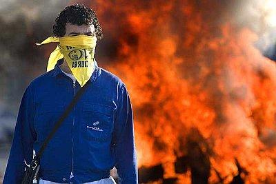 Protestas por el cierre de la planta de Delphi que fue anunciado por la multinacional el pasado 22 de febrero de 2007 (Jorge Zapata, ©EFE - 20minutos)