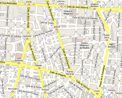 Plano de Chamberi (Google Maps)